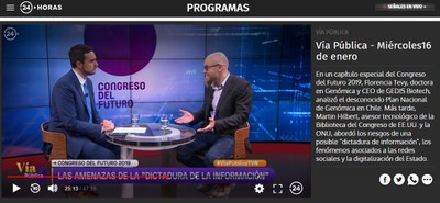 national TV Chile