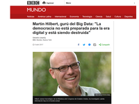 Interview BBC MUNDO: Big Data