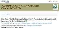 JCMC publication on Self-Presentation on Facebook