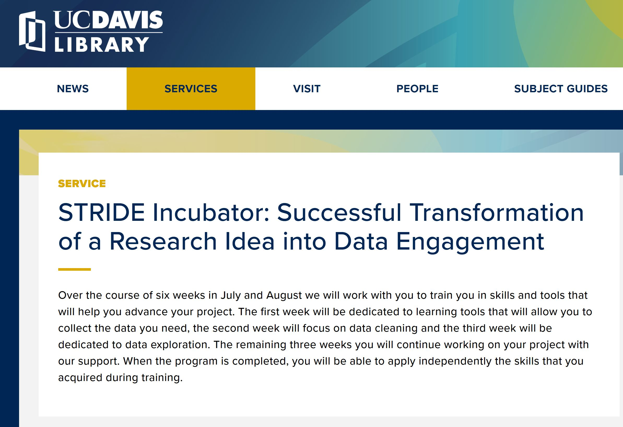 PhD Student Jieyu Ding Awarded Fellowship for the STRIDE Data Incubator Summer Training Program
