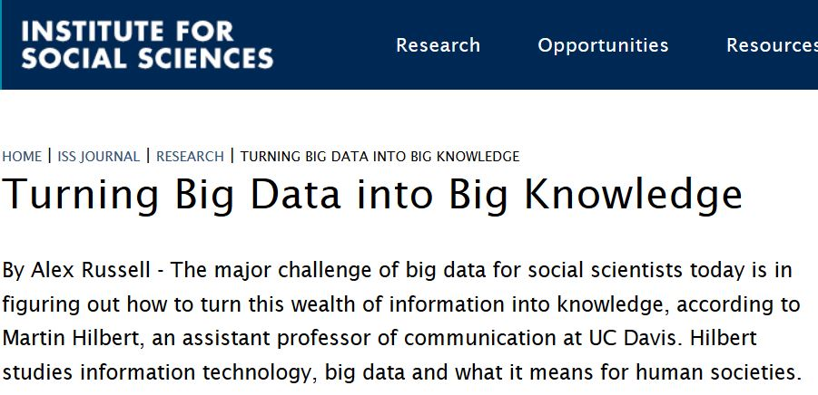 Turning Big Data into Big Knowledge